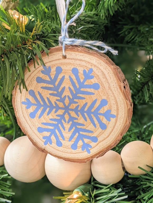 Wooden Screen Printed Ornaments
