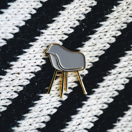 Shell Chair Enamel Pin - Multiple Colors