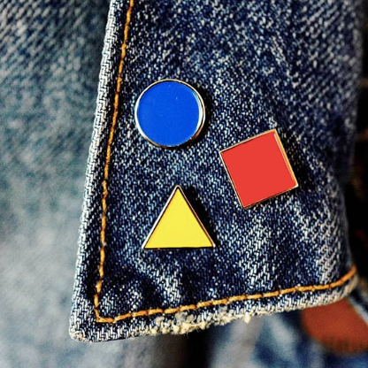 Bauhaus Set of 3 Enamel Pins