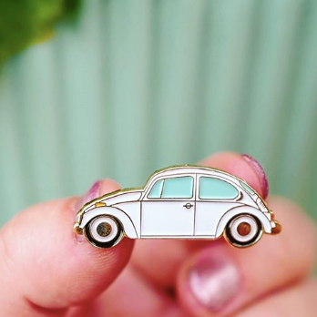 Beetle Car Enamel Pin