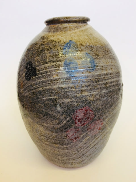 Shino Vase w/ Brushwork Dots