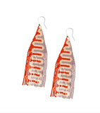 Squiggle Beaded Earrings