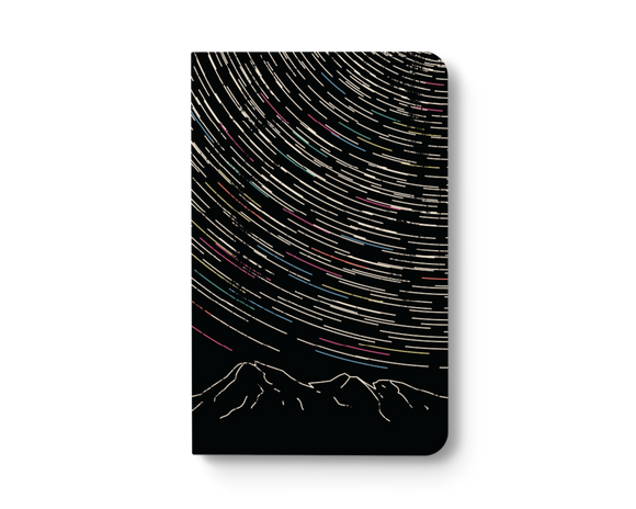 Star Trails Notebook - Lined or Blank