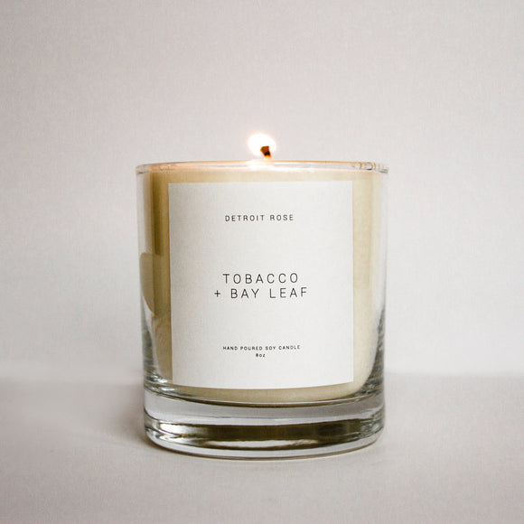Tobacco + Bay Leaf Soy Candle