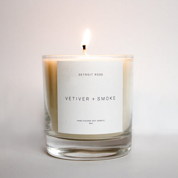 Vetiver + Smoke Soy Candle