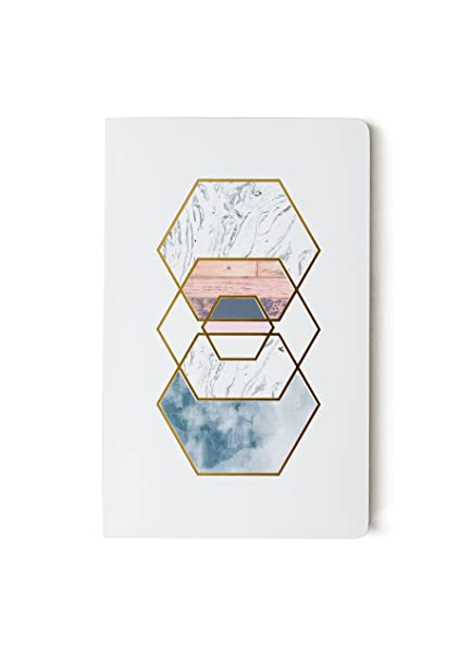 Gold Hexes Notebook - Lined or Blank