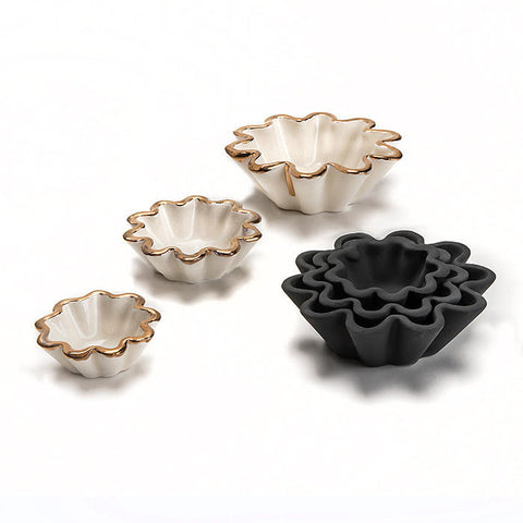 Small Fluted Nesting Bowls