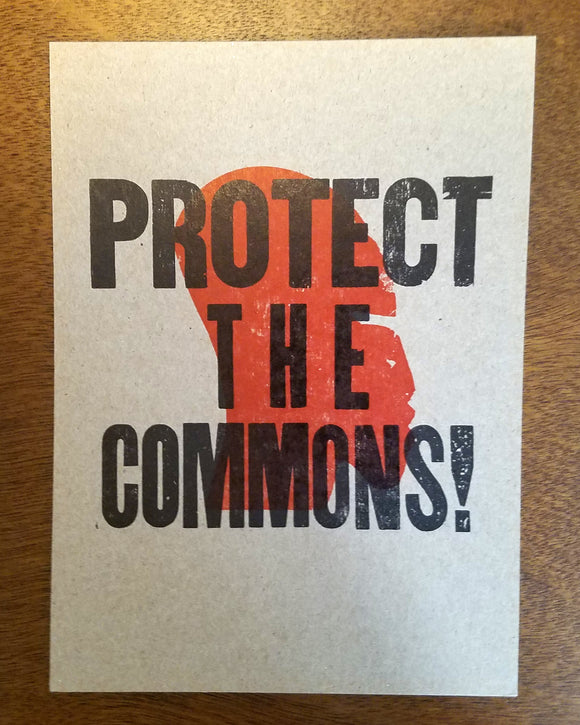 Protect the Commons Print