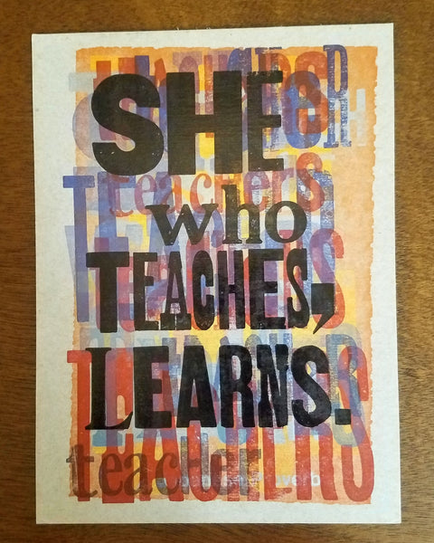 She Who Teaches Print