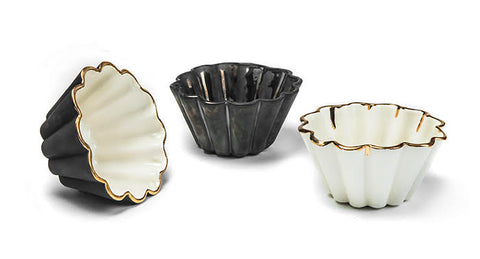 Small Fluted Bowls