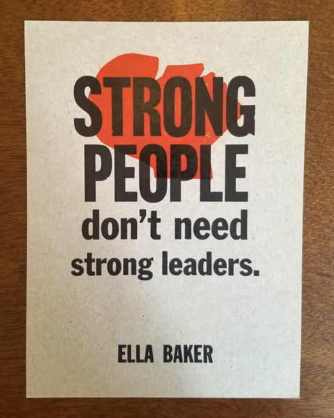 Strong People Print