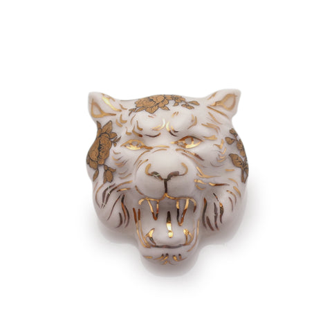 Tiger Tiger Brooch (Gold Rosettes)