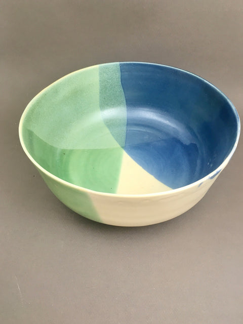 Tri Color Serving Bowl