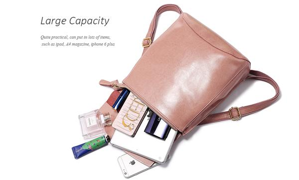 Leather backpack for teenage girls