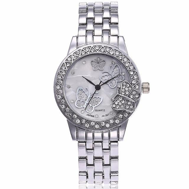 Butterfly Watch Stainless Steel Waterproof  | Reloj con Mariposas de acero inoxidable,Watch | Reloj,YALIBELLA