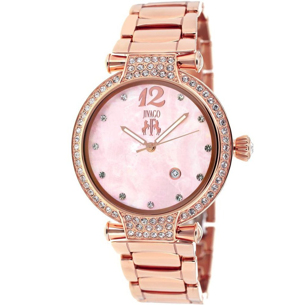 Pink Mother of Pearl Women's Bijoux JIVAGO Watch | Reloj Rosa Madre Perla JIVAGO,Watch | Reloj,YALIBELLA
