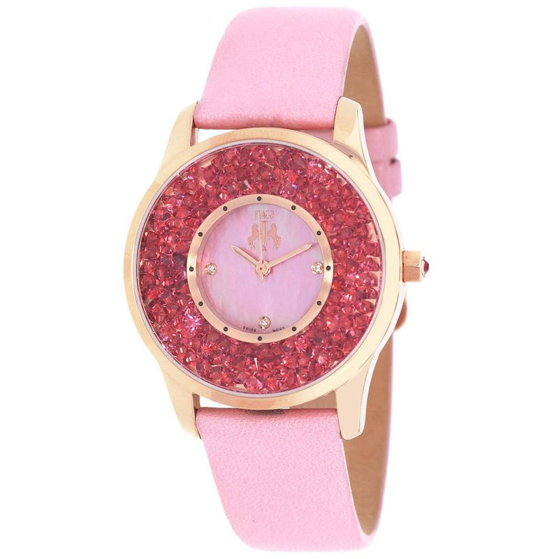 Pink Women's Brillance JIVAGO Watch | Reloj Rosa Brillance para Mujer,Watch | Reloj,YALIBELLA