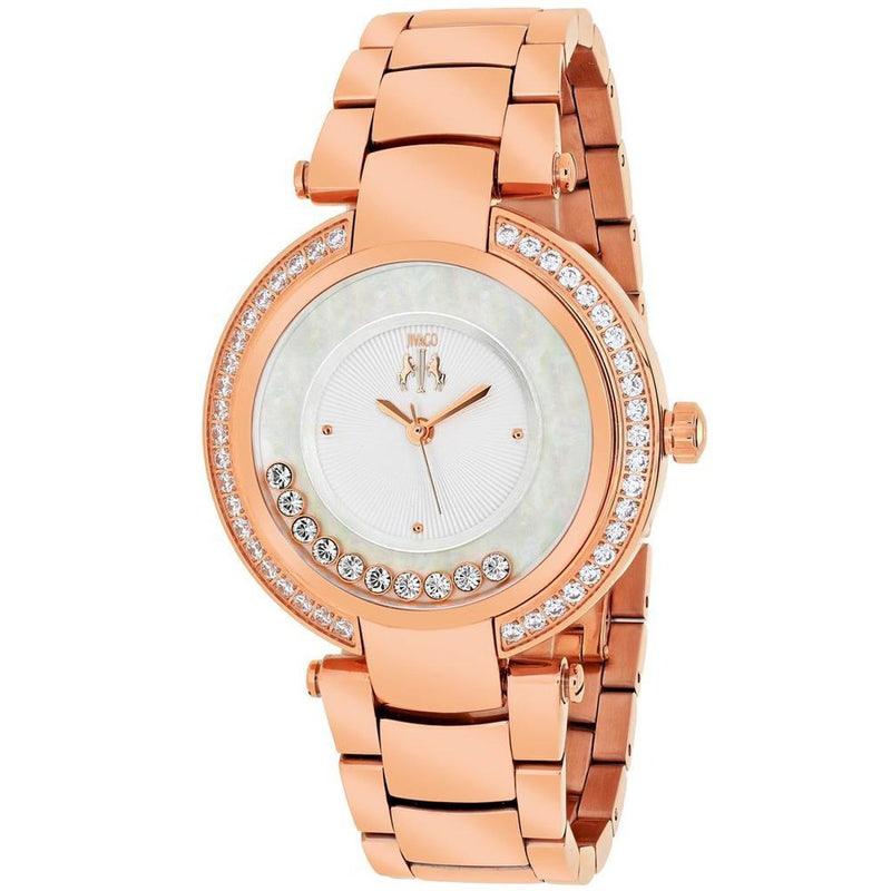 Rose Gold Silver Dial Women's Celebrate JIVAGO Watch | Reloj Rose Gold con Dial Plateado,Watch | Reloj,YALIBELLA