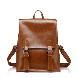 Vintage Leather Backpack,YALIBELLA
