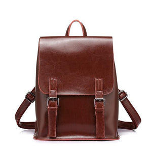 Vintage Leather Backpack,,YALIBELLA
