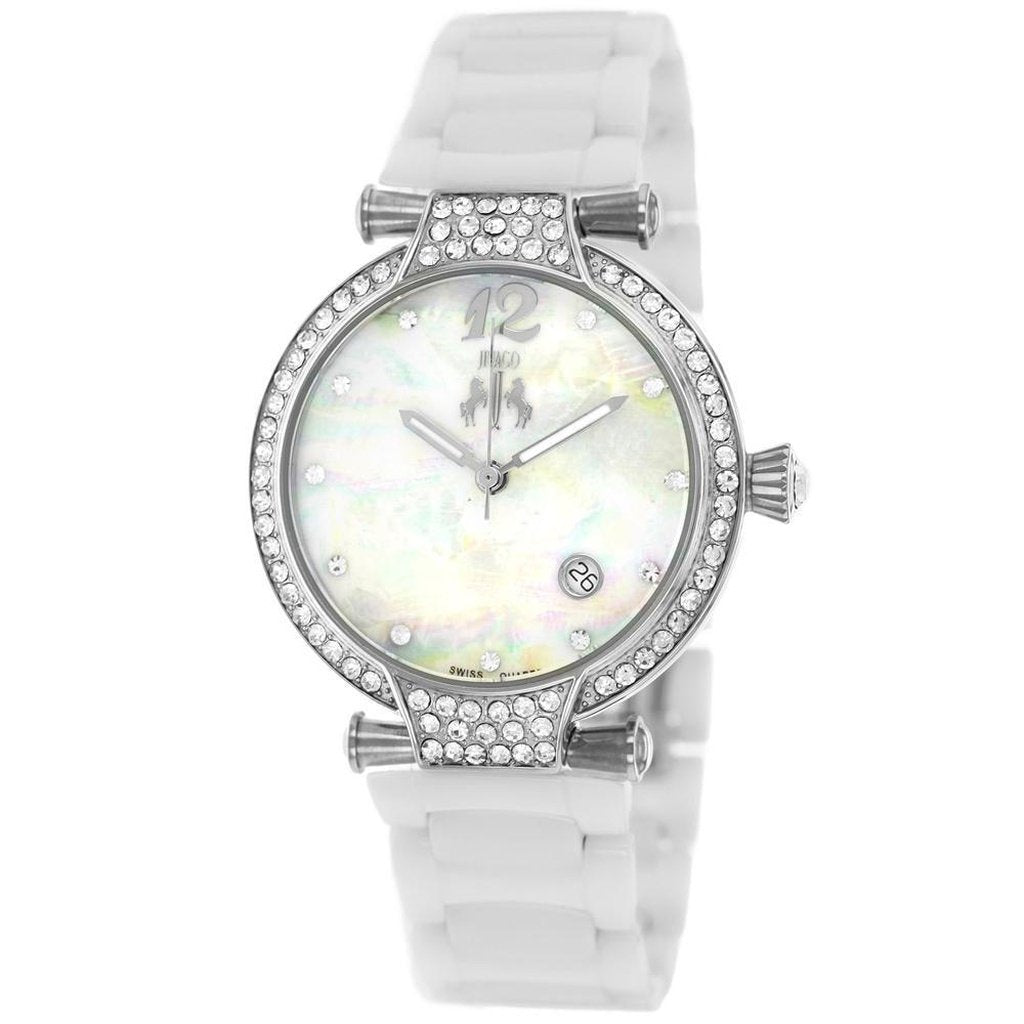 White Mother of Pearl Women's Bijoux JIVAGO Watch | Reloj Madre Perla Ceramico para Mujer,Watch | Reloj,YALIBELLA