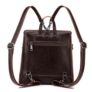 Vintage Leather Backpack for Women