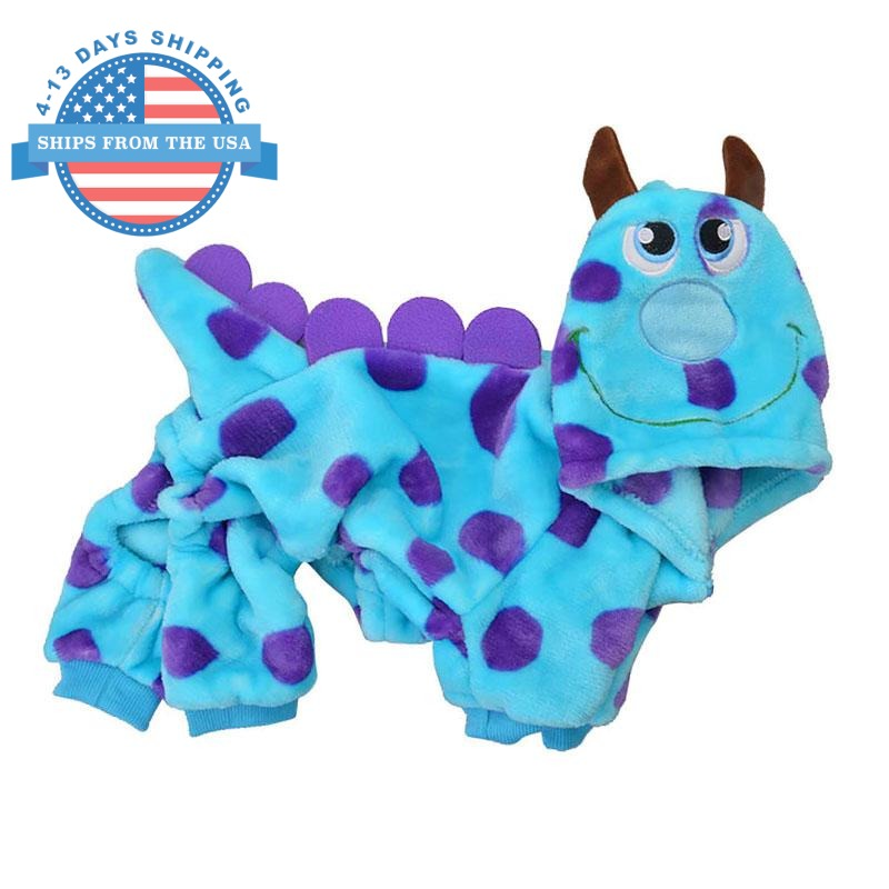 Cute Blue Monster Cartoon Costume Clothes