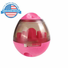 Dog Food Tumbler And Toy Dispenser Pink Toys