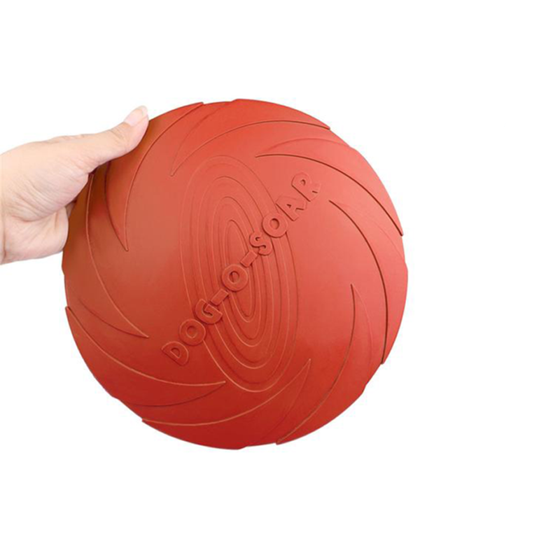 Dog-O-Soar Rubber Toy Frisbee