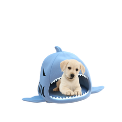 Winter Warm Shark Dog Kennel