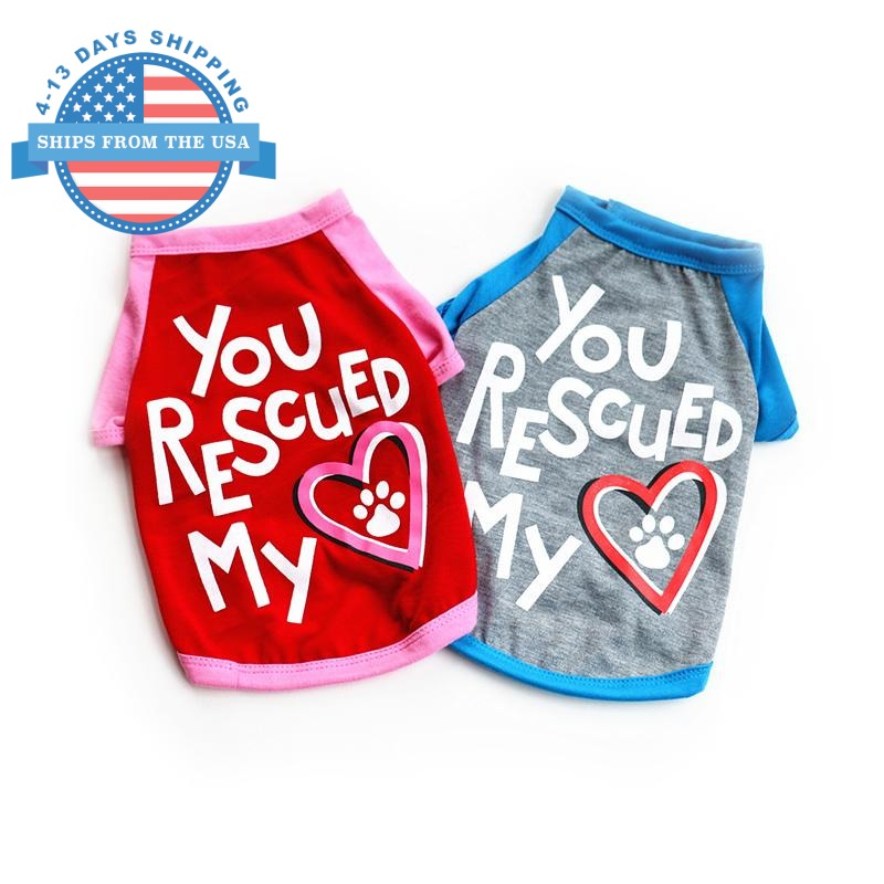 You Rescued My Heart Dog Shirt Clothes