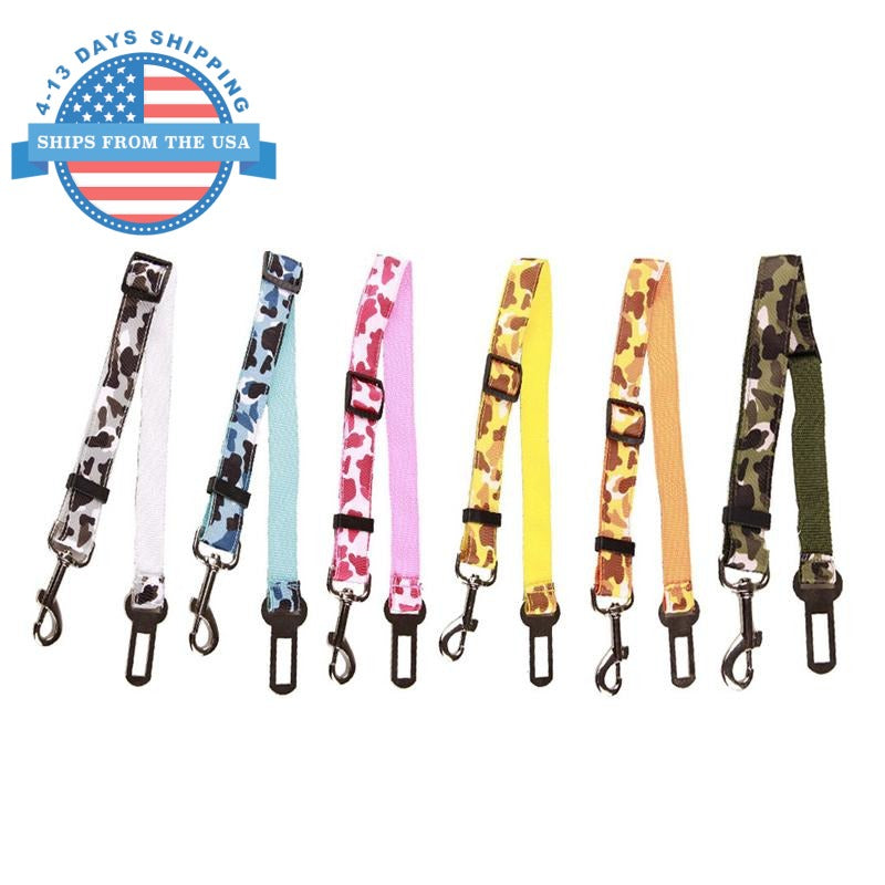 Camouflage Car Seat Belt Lead Clip For Pets Collars / Leashes