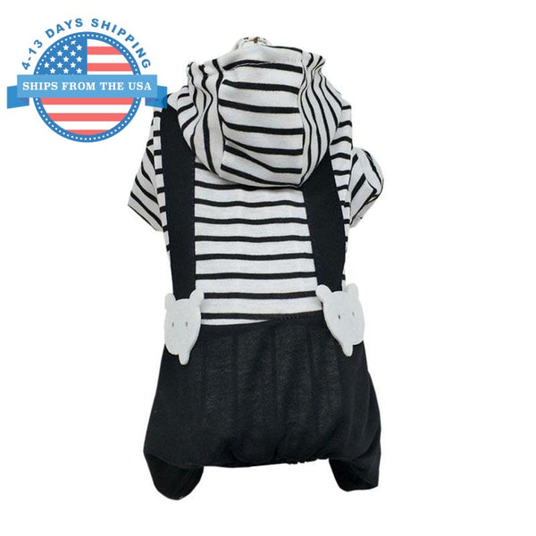 Striped Jumper Dog Hoodie L Clothes