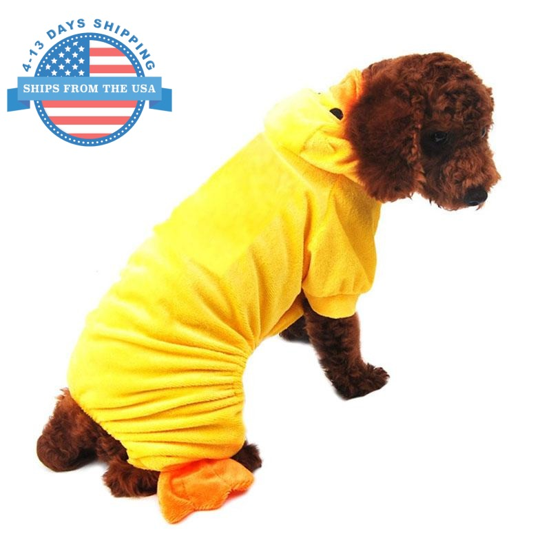 Rubber Ducky Dog Costume Clothes