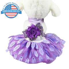 High Fashion Summer Dog Dress Purple / S Clothes