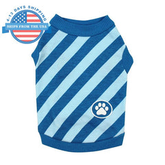 Hip Paw Print Dog Top Blue / S Clothes
