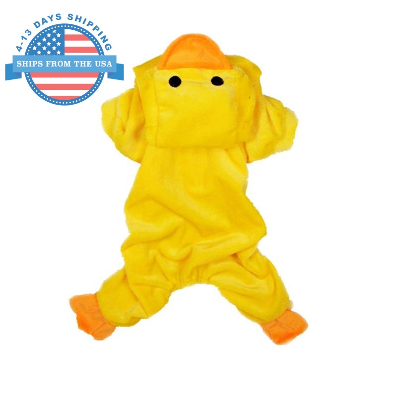 Rubber Ducky Dog Costume L Clothes