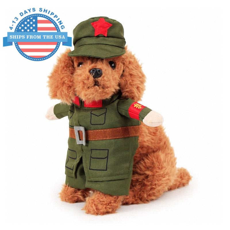 Cosplay For Pets Soldier / S Clothes