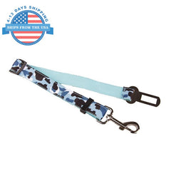 Camouflage Car Seat Belt Lead Clip For Pets Blue Collars / Leashes