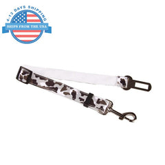 Camouflage Car Seat Belt Lead Clip For Pets White Collars / Leashes
