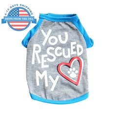 You Rescued My Heart Dog Shirt Gray / S Clothes