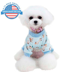 Fun Prints Dog Clothes Blue / M
