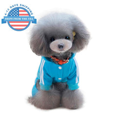 Sports Dog Costume Blue / L Clothes