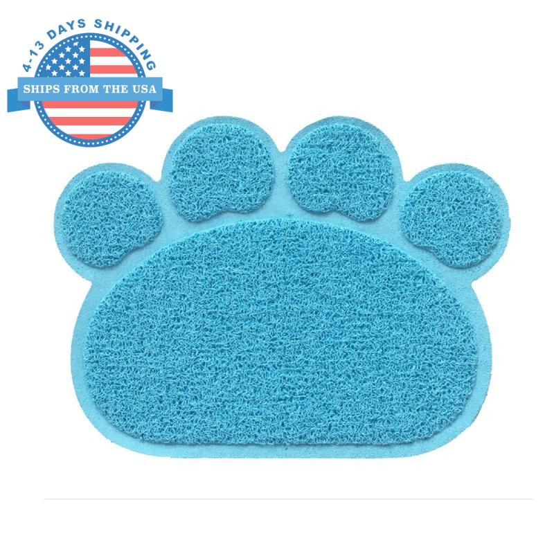 Paw Shape Feeding Mat Light Blue Accessories