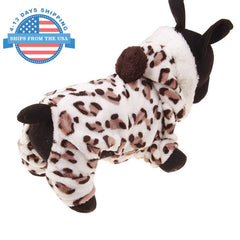 Leopard Print Dog Costume Clothes