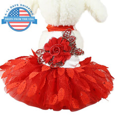 High Fashion Summer Dog Dress Red / S Clothes