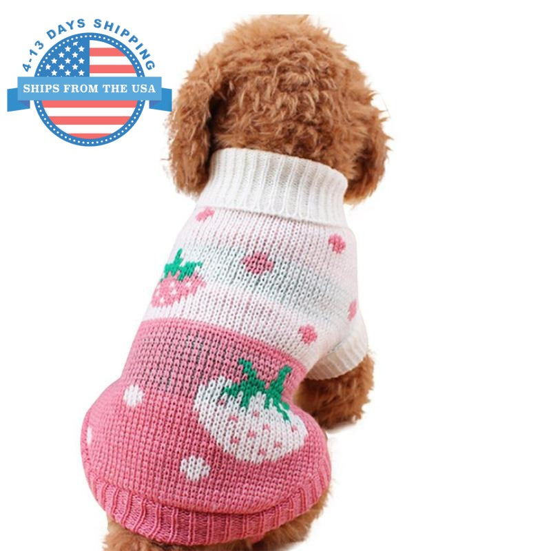 Knitted Fun Prints Dog Sweater Clothes