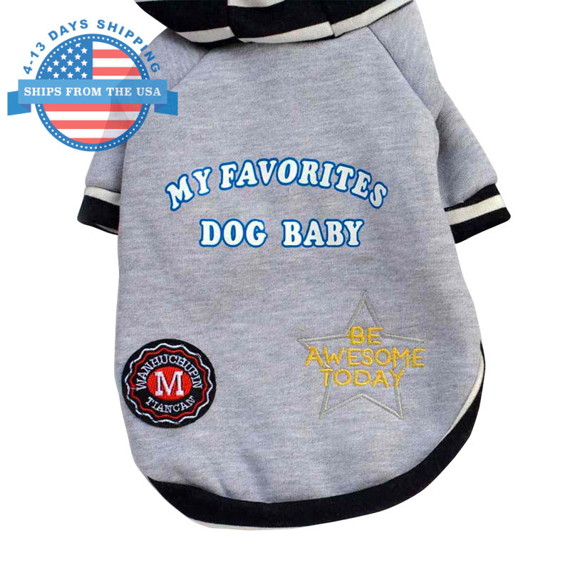 Dog Baby Cotton Sweater Gray / S Clothes