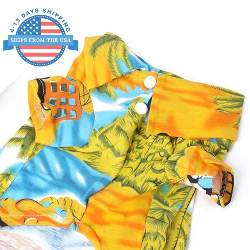 Doggie Beach Wear Yellow / L Clothes