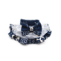 Floral Prints Bowtie and Scarf Collar